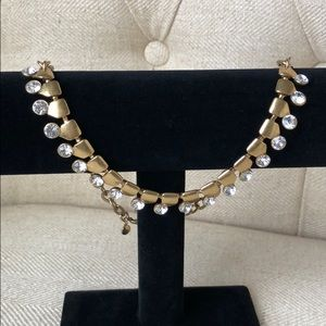 J Crew gold/diamond necklace